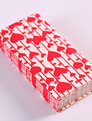 100% virgin pulp 50pcs Heart Wedding Napkins