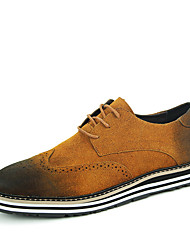 Retro British Style Men's Breathable BULUOKE Leather Shoes for Wedding Party