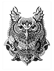 5pcs Owl Temporary Waterproof Tattoo Sticker Skull Arrow Decal for Women Men Body Art