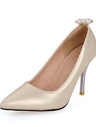 Damen-High Heels-Lässig-Kunststoff-Stöckelabsatz-Absätze / Stile / Spitzschuh / Geschlossene Zehe-Rot / Silber / Grau / Gold