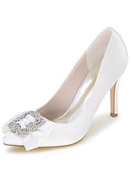 Damen-High Heels-Hochzeit / Kleid / Party & Festivität-Satin-Stöckelabsatz-Spitzschuh-Schwarz / Blau / Rosa / Lila / Rot / Elfenbein /