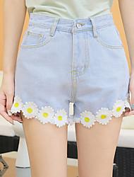 Pantalon Aux femmes Jeans / Short Mignon Coton / Polyester Non Elastique