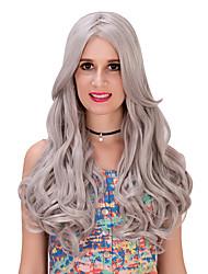 gris larga lolita wig.wig, peluca de Halloween, peluca de color, peluca de la manera, peluca natural, peluca cosplay.
