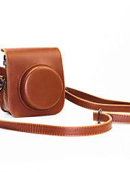 pu leer mini camera case voor Fujifilm instax mini 70 met afneembare schouderriem