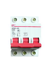 Выключатель воздушный выключатель 63а патентный выключатель трехфазный c63 / dz47-3p