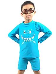 Bañador Boy-Playa-Estampado-Poliéster-Verano-Azul