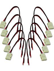 KWB-8мм 2pin 10pcs водить прокладки разъемы для 3528 одного цвета привело полосы