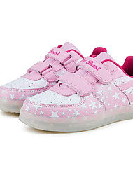 LED Light Up Shoes, Girl's Sneakers Spring / Fall Comfort Tulle Athletic Flat Heel Magic Tape / Blue / Pink Walking / Running