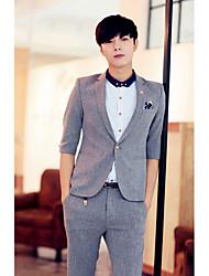 Men's Solid Casual Set,Cotton Short Sleeve Multi-color set