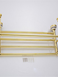 Bathroom Shelf / Gold / Wall Mounted /60*22.3*13.7cm /Stainless Steel / Zinc Alloy /Contemporary /60cm 22.3cm 1.44