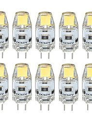 3W G4 Luces LED de Doble Pin T 1 COB 300-350 lm Blanco Cálido / Blanco Fresco / Blanco Natural Decorativa / Impermeable DC 12 V 10 piezas
