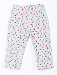 Girl's Casual/Daily Print Pants,Cotton Fall White