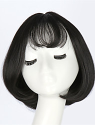 FS Little Girl Hairs Cute Fashion Lovely Wigs Short BOBO Straight Hair Neat Bang Full Head Sexy Women Hair Cap