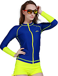 Women Diving Surfing Rashguards Shirt Swim Snorkeling Tops Long Sleeve Swimwear Wetsuit Zipper