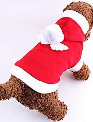 Katzen / Hunde Kostüme / Kapuzenshirts Rot / Rosa Hundekleidung Winter einfarbig Niedlich / Cosplay / Weihnachten / Neujahr