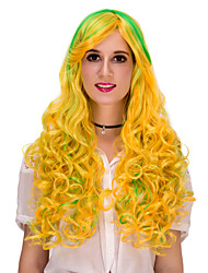 Bright yellow long hair wig.WIG LOLITA, Halloween Wig, color wig, fashion wig, natural wig, COSPLAY wig