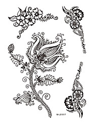 1pc Beauty Flower Black Henna Temporary Tattoo for Woman Body Art Jewelry Sticker BM-LS1017