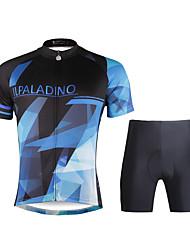 PALADIN® Maillot et Cuissard de Cyclisme Homme Manches courtes VéloRespirable / Séchage rapide / Résistant aux ultraviolets / Pocket