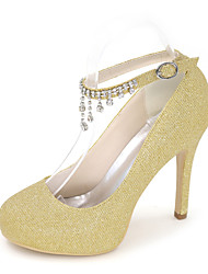Women's Shoes Glitter Spring / Summer / Fall Round Toe Heels Wedding / Party & Evening / Dress