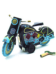 The Motorcycle Wind-up Toy Leisure Hobby  Metal Green /Blue For Kids