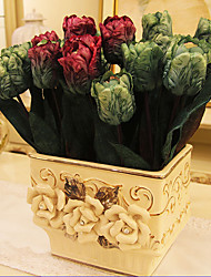 Hi-Q 1Pc Decorative  Real Touch Tulip Wedding Home Table Decoration Artificial Flowers