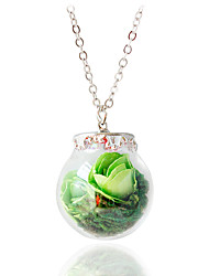 Necklace Pendant Necklaces Jewelry Alloy Wedding Green 1pc Gift