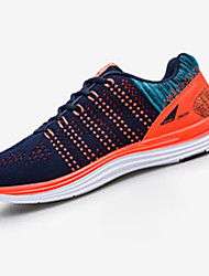 Men's Athletic Shoes Spring / Fall Round Toe Tulle Athletic Flat Heel Others / Lace-up Red / Gray / Orange Running
