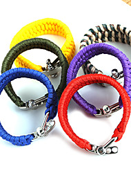 Beadia 1Pc Whistle Life-saving Bracelet & Survival ParaCord Bracelet Christmas Gifts