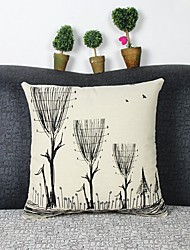 Graphic Prints Cotton/Linen Pillow Cover