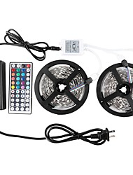 KWB 2*5M-5050-150-RGB-IP65 44Key 1to 212V 6A 72W Power Supply LED Strip Lights Kit waterproof