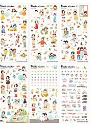 Birthday 6pcs Stickers Multi Color