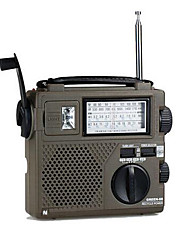 High Sensitivity Portable Radio Full World Band / Economic / Environmental / Dynamo Radio Hand Crank rechargable Radio