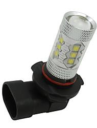 2pcs puissance 80w élevée hb3 9005 a conduit la voiture conduite brouillard lumière froide ampoule blanche 1920lm 12v-24v