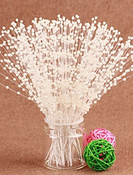 100pcs Wedding Cake Topper Decorative Centerpieces Artificial Flowers 4mm Bead Chain Wedding Decoration Crafts