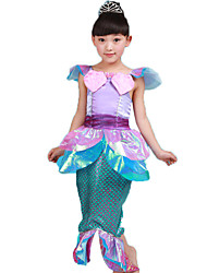 Costumes Fairytale Costumes Mermaid Halloween / Carnival / Children's Day Purple Solid / Print Polyester Skirt