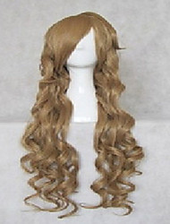 Capless 80cm Long Blonde Cosplay Wigs  Body Wavy  Synthetic Wigs Halloween Costume  Wig