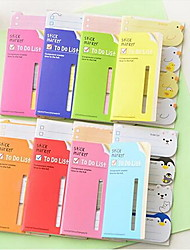 Stationery Cute Little Animal N Times Posted Sticky 80 Pages(Random Color)
