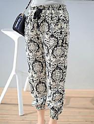 De las mujeres Pantalones Chinos-Vintage Microelástico-Poliéster