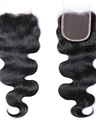 "8A Peruvian Virgin Human Hair Extension Lace Top Closure 4x4"" Size Lace Closure"