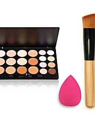 Pro Party 20 Colors Contour Face Makeup Concealer Palette + Powder Brush + Powder Puff