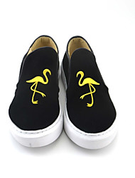 Women's Flats Shoes Casual Flat Heel slip-on comfortable leather shoes popular Black
