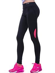 Damen Einfarbig Legging,Baumwolle Polyester