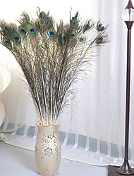 Hi-Q 1Pc Decorative Flower Peacock Feathers Wedding Home Table Decoration Artificial Flowers