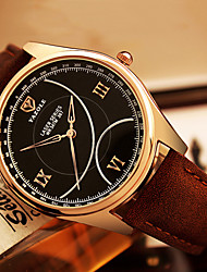 YAZOLE® Brand Men's Fashion Quartz Casual Watch PU Belt Round Alloy Dial Watch Cool Watch Wrist Watch Classic Business Watch