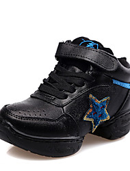Kids' Dance Shoes Leather Leather Jazz / Sneakers Chunky Heel Beginner