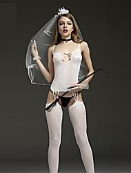 SKLV Women Nylon Jacquard Cut Out Sheer Lingerie/Ultra Sexy/Teddy Nightwear