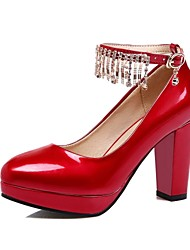 Women's Shoes Microfibre / Patent Leather Spring / Summer / Fall Heels / Round Toe HeelsWedding / Office