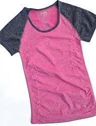 Course / Running Tee-shirt Shirt Femme Manches courtes Respirable Séchage rapide Confortable Bandes Réfléchissantes Anti-transpiration