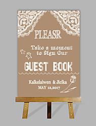 e-home eigene, personalisierte Hochzeit Desktop-Anzeige Hochzeitsgeschenk Dekoration benutzerdefinierten Namen und Datum (Holz Staffelei
