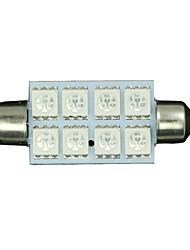 2x 42 milímetros verde 5050 8-SMD festão cúpula mapa interior lâmpada LED 211-2 578 569